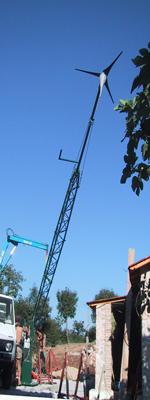 montaggio palo eolico