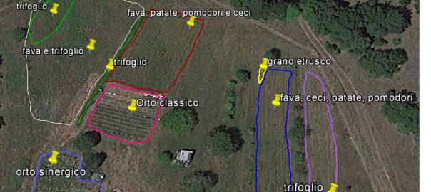 Ecco la mappa delle coltivazioni sui terreni del PeR