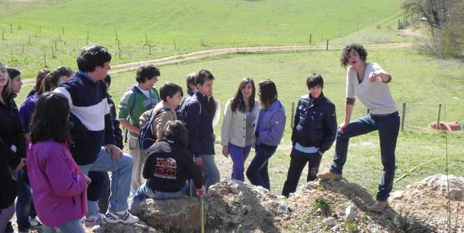 Studenti in visita didattica al Parco dell'Energia Rinnovabile