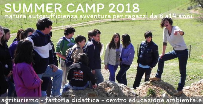 Summer Camp 2018 per Bambini e Ragazzi